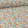 Tissu coton imprimé feuilles de Ginkgo Aphrodite fond Céladon - Oeko tex