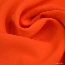 Tissu Crepe Pénélope rouge orangé