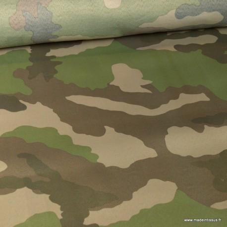 Tissu sergé polyester camouflage armée de terre