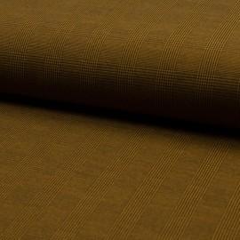 Tissu Bengaline motifs prince de Galle Ocre