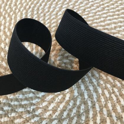 Elastique Maille 35mm Noir