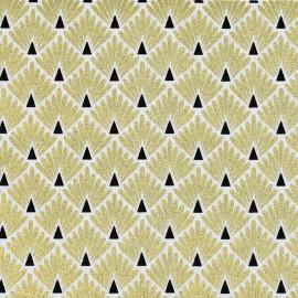 Tissu coton Enduit  imprimé écailles - Or - Oeko tex