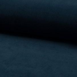 Tissu velours côtelé coton Pétrole
