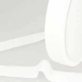 Biais replié en coton biologique 27 mm coloris Blanc