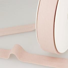 Biais replié en coton biologique 27 mm coloris Rose clair