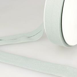 Biais replié en coton biologique 20 mm coloris vert nil