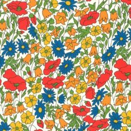 Tissu Liberty Poppy and Daisy Jaune, rouge et bleu