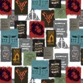 Tissu Cretonne coton Harry Potter Posters - oeko tex
