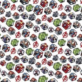 Tissu Cretonne coton Marvel Mania Avengers  - oeko tex