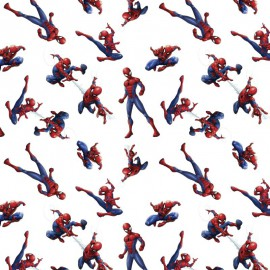Tissu Cretonne coton motif Spiderman - oeko tex