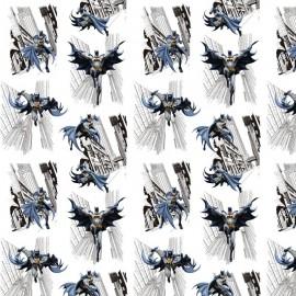 Tissu Cretonne coton motif Batman - oeko tex