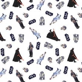 Tissu Cretonne coton motif Starwars - oeko tex
