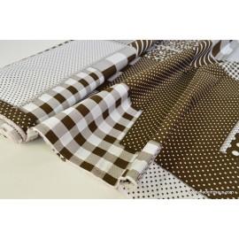 Popeline coton imprimé patchwork .x1m