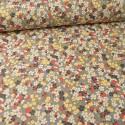 Tissu coton motifs fleurs Sakura Gris - Oeko tex