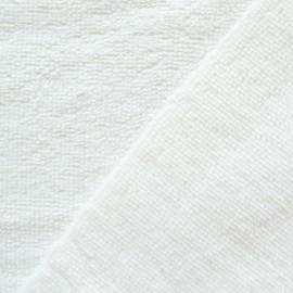 Tissu micro éponge de bambou Blanc - oeko tex