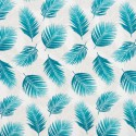 Tissu coton imprimé feuilles de Palme canard - oeko tex