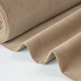 1 coupon de 95 cm de Tissu velours côtelé milleraies coton Beige