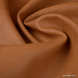 Tissu simili cuir vieilli coloris Fauve