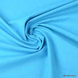 Tissu cretonne coton turquoise foncé - Oeko tex