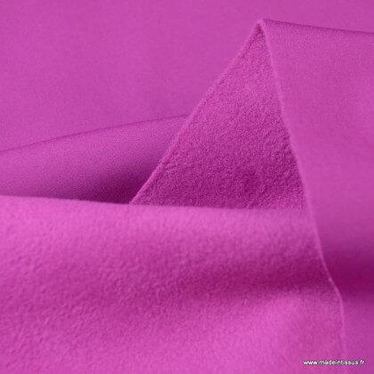 Tissu Soft shell Rose Fuchsia