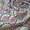Tissu coton Enduit  imprimé écailles Thym et Camel - Yona -  Oeko tex