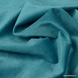 Tissu velours d'ameublement coloris Turquoise