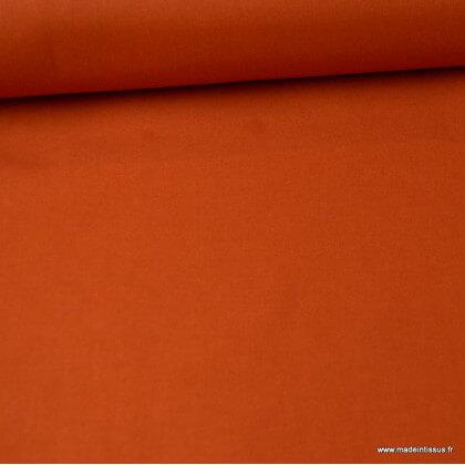 Tissu cretonne coton Rouille - Oeko tex