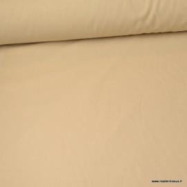 Tissu cretonne coton coloris Lin - Oeko tex