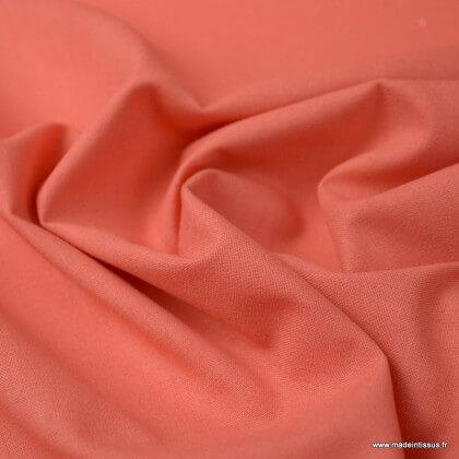 Tissu cretonne coton Corail - Oeko tex