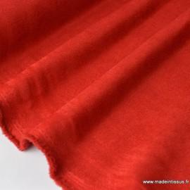Tissu Suedine d'ameublement rouge