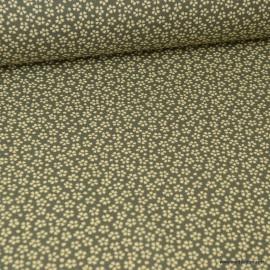 Tissu coton Enduit Myosotis motifs fleurs Sauge -  Oeko tex