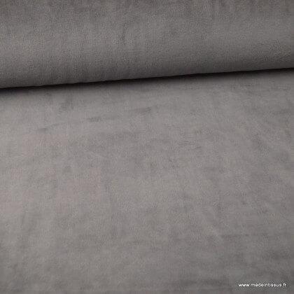 Tissu velours rasé pyjamas nicky Gris anthracite