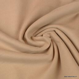 Tissu velours côtelé petites côtes coton beige