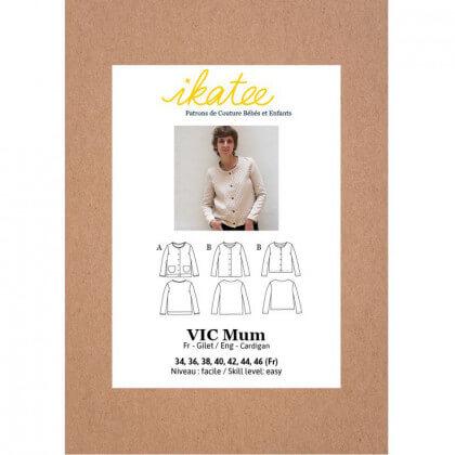 Pochette patron Gilet / veste Vic Mum by Ikatee