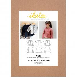 Pochette patron veste Vic pour fille by Ikatee