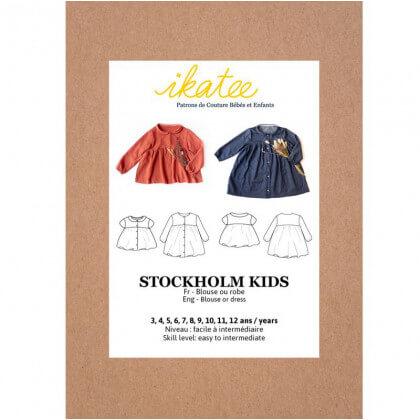 Pochette patron Blouse - Robe Stockholm pour fille by Ikatee