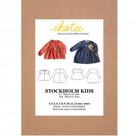 Pochette patron Blouse - Robe Stockholm pour fille by Ikatee