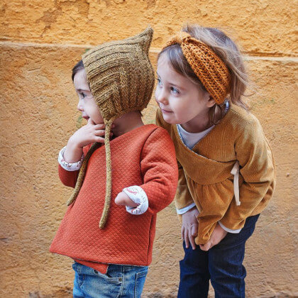 Pochette patron Gilet ou Robe Dublin pour fille by Ikatee - du 1 mois au 4 ans
