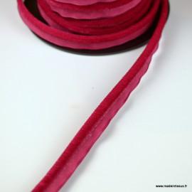 Passepoil velours 3.5mm coloris Fuchsia pour l'ameublement