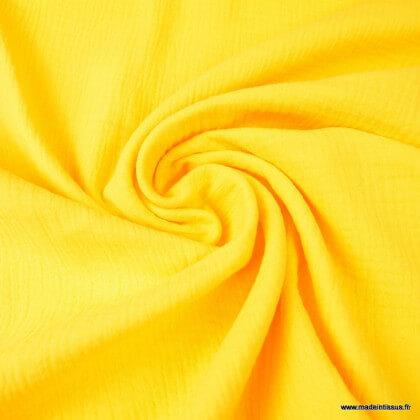 Tissu Double gaze coton Jaune