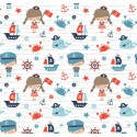 Tissu Popeline coton motifs marin collection Nautical - Camelot Fabrics