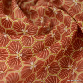 Tissu coton Riad Enduit coloris Bruschetta Oeko tex