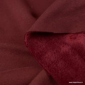 Tissu Sweat envers Minky Prune