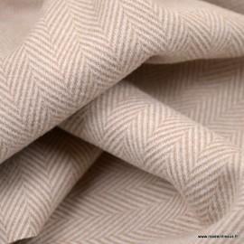 Tissu Lainage aspect drap de laine à chevrons coloris Camel