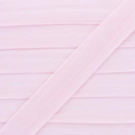 Biais Elastique pré-plié 20mm - coloris Rose - au mètre