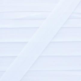 Biais Elastique pré-plié20mm - coloris Blanc - au mètre