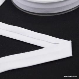 Biais jersey Blanc 18 mm