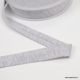 Biais jersey Gris 18 mm