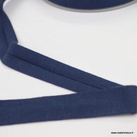 Biais jersey Marine 18 mm