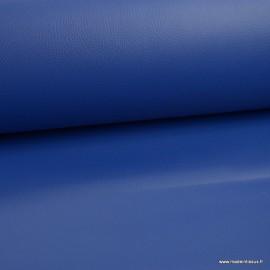 Tissu Simili cuir ameublement rigide Bleu Royal